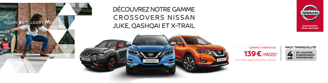 Concession OFFRE NISSAN CROSSOVER