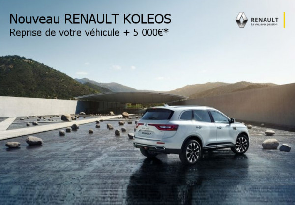nouveau renault koleos. Black Bedroom Furniture Sets. Home Design Ideas